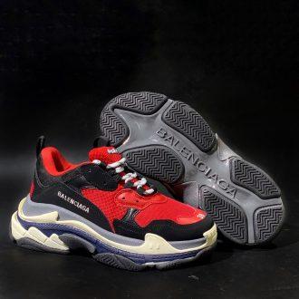 giày balenciaga triple S rep đỏ đen