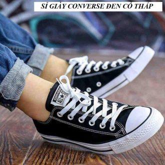 sỉ giày converse đen cổ thấp