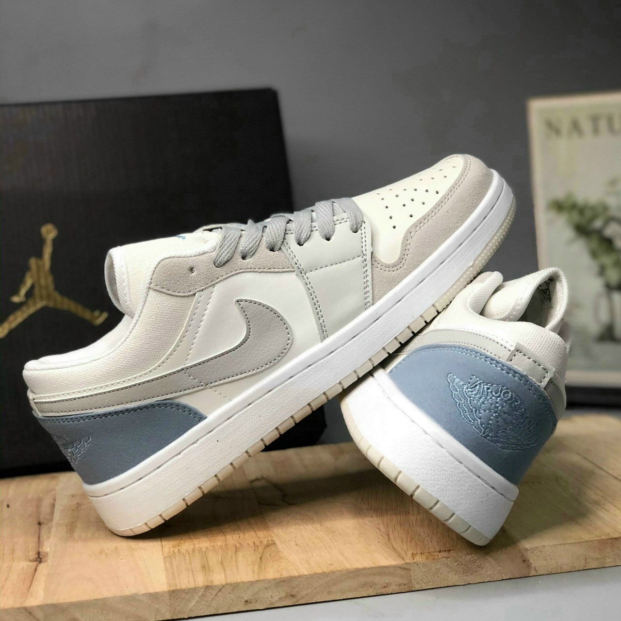 "sỉ giày nike air jordan low 1 ""paris"" size nam"